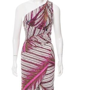 Roberto Cavalli one-shoulder midi dress, Size 4